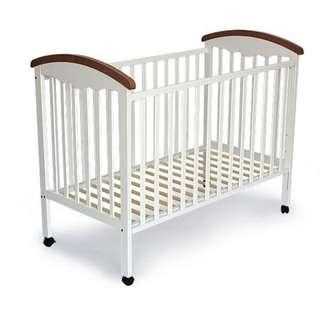 """MY DEAR 26025 BABY COT 24""""X48"""" - WHITE + BROWN"""