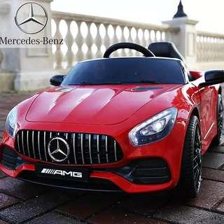 Red Benz AMG FT998 Rechargeable Ride On Car with Leather Seats