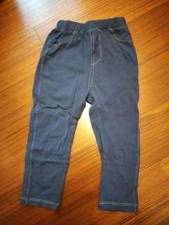 🚚 【五零方案】瘦版彈性褲 深藍