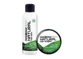 Human Nature Bundle Men's Facial Wash and Hair Shaper