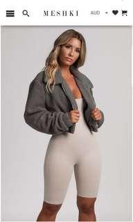 Tilda cropped teddy jacket