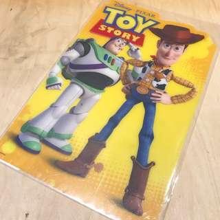 全新 絕版 Toy Story 膠墊板