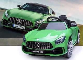 Green Benz AMG FT998 Rechargeable Ride On Car with Leather Seats