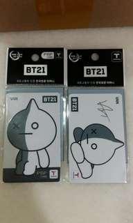 BTS X BT21 T-Money Card