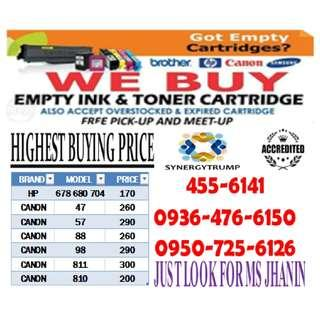 Highest Buying Price Buyer of Empty Ink Cartridges and Toner  ( Expired,  Unused & Brand new  )