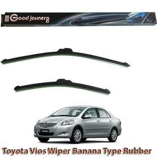 Toyota Vios Batman Gen 2 Windshield Wiper Soft Rubber Blade Bracket less Windscreen Cars