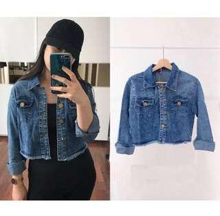 crop acid jacket jeans