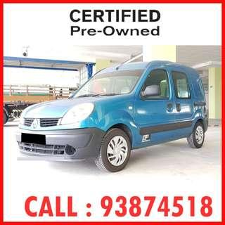 $400++ / month  Only - Renault Kangoo 1.5 (New 5-yr COE) ( Ref : 8732 )