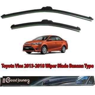 Toyota Vios Superman Gen 3 Windshield Wiper Soft Rubber Blade Bracket less Windscreen Cars