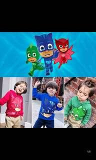 Po pj Mask kids hoodies jacket brand new size for 90-130cm