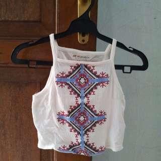 HnM h&m coachella halter crop top embroidery
