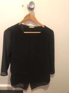 BLACK LONG SLEEVE SHIRT BLOUSE