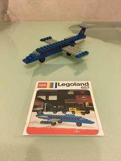 Vintage Lego 657 (經典懷舊70年代噴射機)