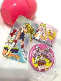 美少女戰士 玩具蛋 豆叮兔 chibi moon 扣針