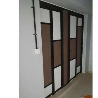 Slide and Swing Toilet Door for HDB BTO at $350 (Call96177025)leon