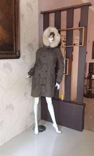 Long Coat Bomber Army Hoode Bulu👍Double Rompi