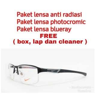 GRATIS LENSA MINUS - Frame kacamata nike 7385 07d73daf03