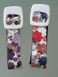 Vintage Retro Ladies Belt ❤ Floral Design