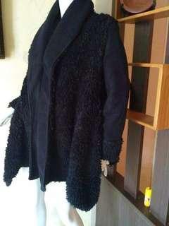 Long Coat Winter Tebal Bisa Bolak Balik Hitam👍Recomended