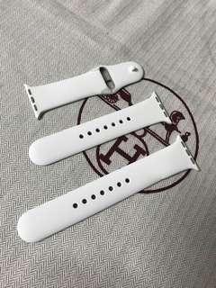 100% Apple Orignial Apple Watch 38/40mm Soft White / Pebbie Sport Band Ceramics Pin 蘋果原裝38/40mm運動錶帶 白/杏色 陶瓷釘
