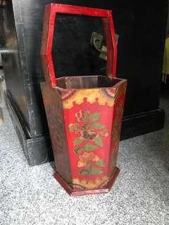 Oriental Vase Container Planter Tibet Tibetan Barrel