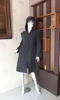WOLL👍Long Coat Winter Grey Recomended