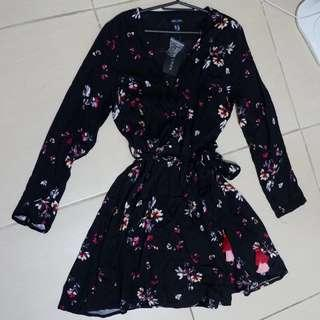 New look floral wrap dress