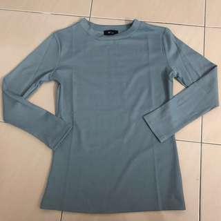 NEW Light Blue Long Sleeve Cotton Shirt Top