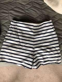 Forever New Striped High Waisted Shorts