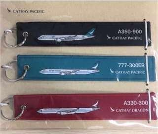 ✈️ 全新CX/KA Remove before flight keychain / luggage tag, Cathay Pacific Cathay Dragon 國泰 國泰港龍 鑰匙扣 行李扣