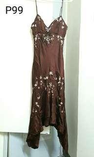 Large silk dress