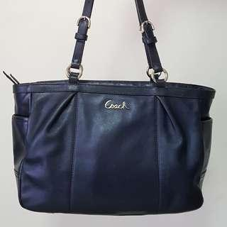 Authentic Coach leather bag blue