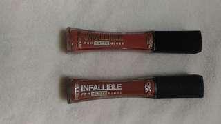 Infallable Pro matte Gloss 316 & 318