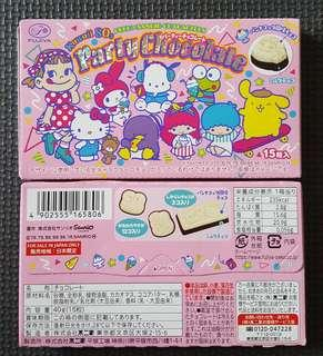 🚚 現貨 日本境內版 不二家 sanrio party 義式奶酪巧克力 fujiya 三麗鷗人物派對巧克力