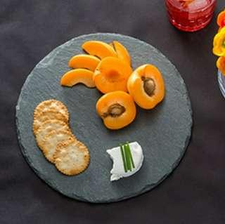 *In stock* Round natural slate serving plate, cheese board