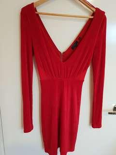 Guess Red Sparkle Cocktail Dress