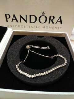 Brand New Authentic Pandora Diamond Silver Bracelet 正品純銀鑽石手鏈