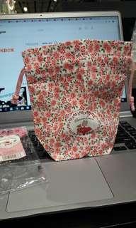 全新 sanrio ma 1991 marron cream 日本製布索袋