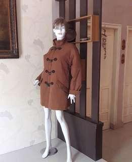 BULU ANGSA👍Long Coat Winter Dark Brown Restock😍