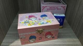 全新 sanrio ts 1995 little twin stars 雙子星 首飾盒 音樂盒 鏡盒