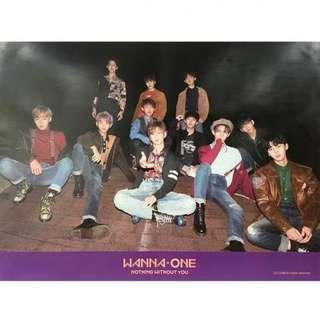 WANNA ONE NOTHING WITHOUT YOU OFFICIAL POSTER WANNA VERSION