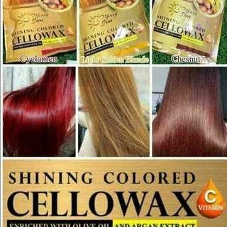 Hair Treatment with temporary Color - CELLOWAX By Merry Sun  (3pcs for $50)