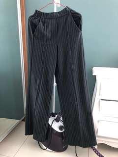 Sale Bershka black stripe kulot