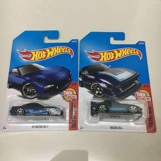 Hotwheels Mazda RX-7 and 95' Mazda Rx-7