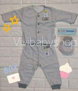 🚚 0-3 fluffy Baby Boy Clothes grey strips