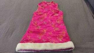Chinese dress Fuschia