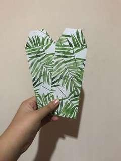 Palm leaf bookmarks