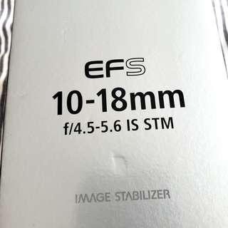 Canon EFS 10-18mm Boxed