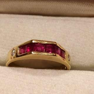 *Quick trade on/before Oct 23* 18K gold ruby and diamond ring