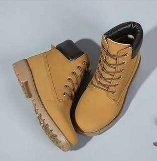 Brand new yellow boots (timberland inspired)